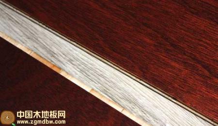 辛巴仿红檀香色三层实木复合地板测评