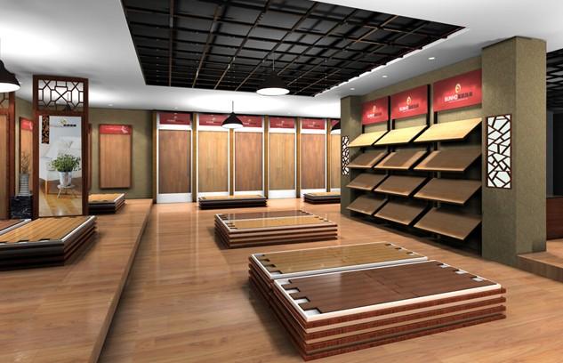 圣和地板终端店面展示-中国木地板网