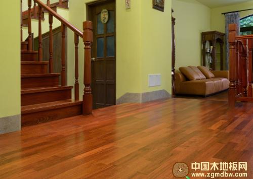 大自然印茄三层实木地板